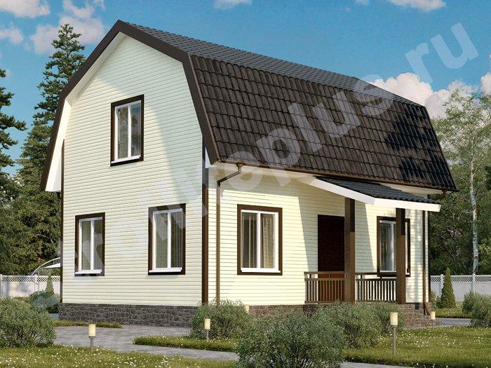 Каркасный дом 6х9 с ломанной крышей для постоянного проживания