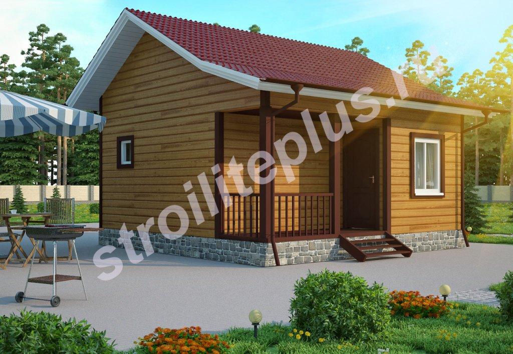 Садовый одноэтажный дом из бруса 6х6