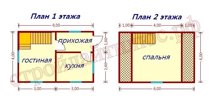 Каркасный дом 5х6 проект своими руками 30