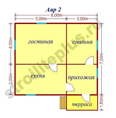 Дом 8х8 одноэтажный своими руками 19